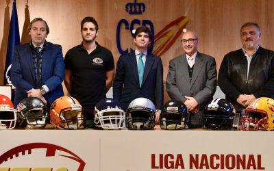 La Liga de Fútbol Americano se presenta en la Casa del Deporte