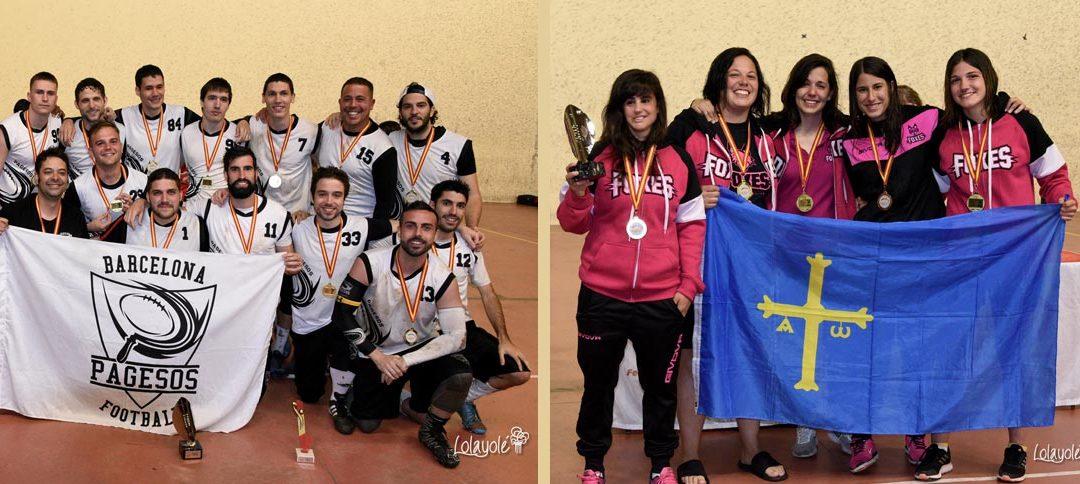 Barcelona Pagesos y Gijón Foxes 82, campeones de la Spanish Flag Bowl Adult